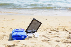 Accesorios en la playa Fotografía de archivo