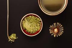 Accesorios especiales para el té del matcha Fotografía de archivo libre de regalías