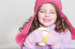 Accesorios felices del invierno del niño Imagen de archivo libre de regalías