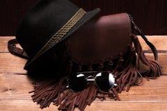 Accesorios femeninos de la ropa de las cosas Foto de archivo libre de regalías