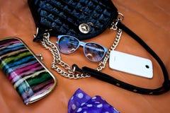 Accesorios femeninos de moda Foto de archivo libre de regalías