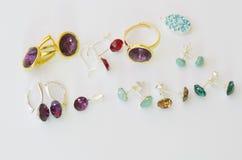 Accesorios femeninos: joyas Fotografía de archivo