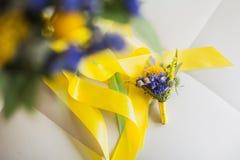 Accesorios florales de la boda hermosa Foto de archivo