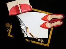 Accesorios hermosos de las mujeres Imagen de archivo libre de regalías