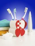 Accesorios higiénicos Foto de archivo libre de regalías