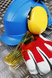 Accesorios industriales de la ropa protectora Imagen de archivo libre de regalías