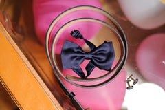 Accesorios masculinos de la boda Imagen de archivo libre de regalías