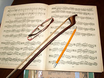 Accesorios musicales Imágenes de archivo libres de regalías