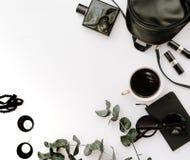 Accesorios negros femeninos de moda Imagen de archivo