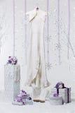 Accesorios nupciales hermosos para la boda del invierno Imagenes de archivo
