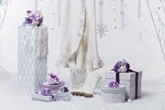 Accesorios nupciales hermosos para la boda del invierno Fotografía de archivo