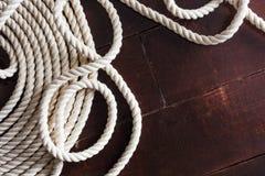 Accesorios para aparejar en el negocio marino Foto de archivo