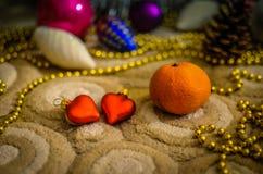 Accesorios para celebrar la Navidad Imágenes de archivo libres de regalías