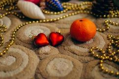 Accesorios para celebrar la Navidad Fotografía de archivo