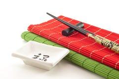 Accesorios para comer el sushi 2 Fotografía de archivo libre de regalías
