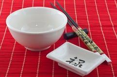 Accesorios para comer el sushi 5 Imágenes de archivo libres de regalías
