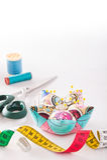 Accesorios para coser Fotografía de archivo libre de regalías