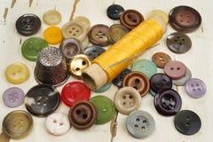 Accesorios para coser Fotografía de archivo
