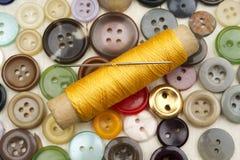 Accesorios para coser Fotos de archivo