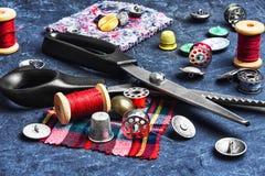 Accesorios para coser Foto de archivo libre de regalías