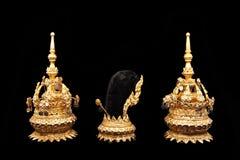 Accesorios para el bailarín tailandés tradicional Imagen de archivo