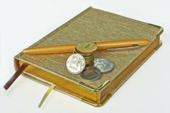 Accesorios para el control de gastos del efectivo Foto de archivo