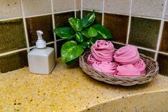 Accesorios para el cuarto de baño Imagenes de archivo