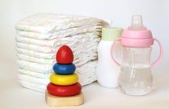 Accesorios para el cuidado del bebé Imagenes de archivo