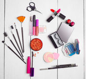 Accesorios para el maquillaje Imágenes de archivo libres de regalías
