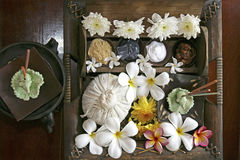 Accesorios para el masaje tailandés Foto de archivo