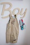 Accesorios para el muchacho Imagen de archivo