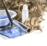 Accesorios para el pelo que colorea Fotografía de archivo