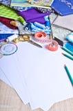 Accesorios para el sastre o el diseñador Imagen de archivo
