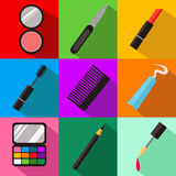 Accesorios para el sistema del maquillaje Fotos de archivo
