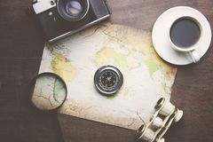 Accesorios para el viaje Imagenes de archivo