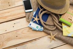 Accesorios para el viaje Fotografía de archivo libre de regalías