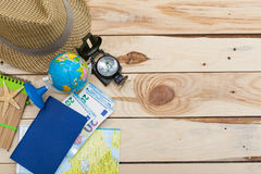 Accesorios para el viaje Imagen de archivo libre de regalías