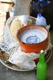 Accesorios para el vino de palma Fotografía de archivo libre de regalías