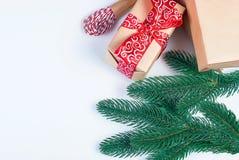 Accesorios para embalar regalos de Navidad creativos Imagenes de archivo