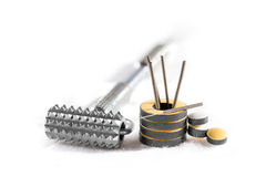 accesorios para la acupuntura. Imagen de archivo libre de regalías