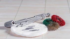 Accesorios para la acupuntura. Foto de archivo libre de regalías