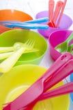 Accesorios para la cena al aire libre Imagen de archivo libre de regalías