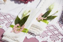 Accesorios para la ceremonia de boda Foto de archivo