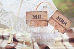 Accesorios para la ceremonia de boda Imágenes de archivo libres de regalías