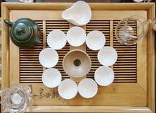 Accesorios para la ceremonia de té Fotos de archivo libres de regalías