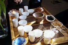 Accesorios para la ceremonia de té Foto de archivo libre de regalías