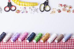Accesorios para la costura de la mano Fotografía de archivo