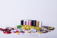 Accesorios para la costura de la mano Foto de archivo