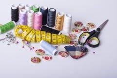 Accesorios para la costura de la mano Fotografía de archivo libre de regalías