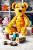 Accesorios para la costura, juguete suave Fotografía de archivo